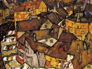 Schiele, Egon - Crescent of Houses The Small City V