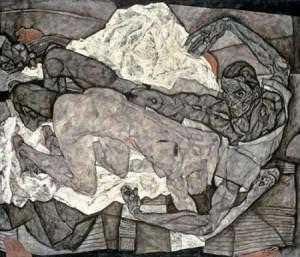 Schiele, Egon - Mann und Frau I