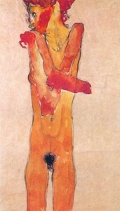 Schiele, Egon - Nude Girl With Folded Arms