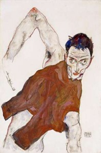 Schiele, Egon - Self Protrait In a Jerkin