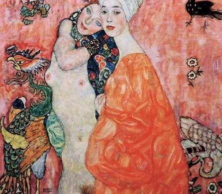 Die Freundinnen - Gustav Klimt