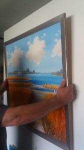Bild an Floreat Haken aufhängen