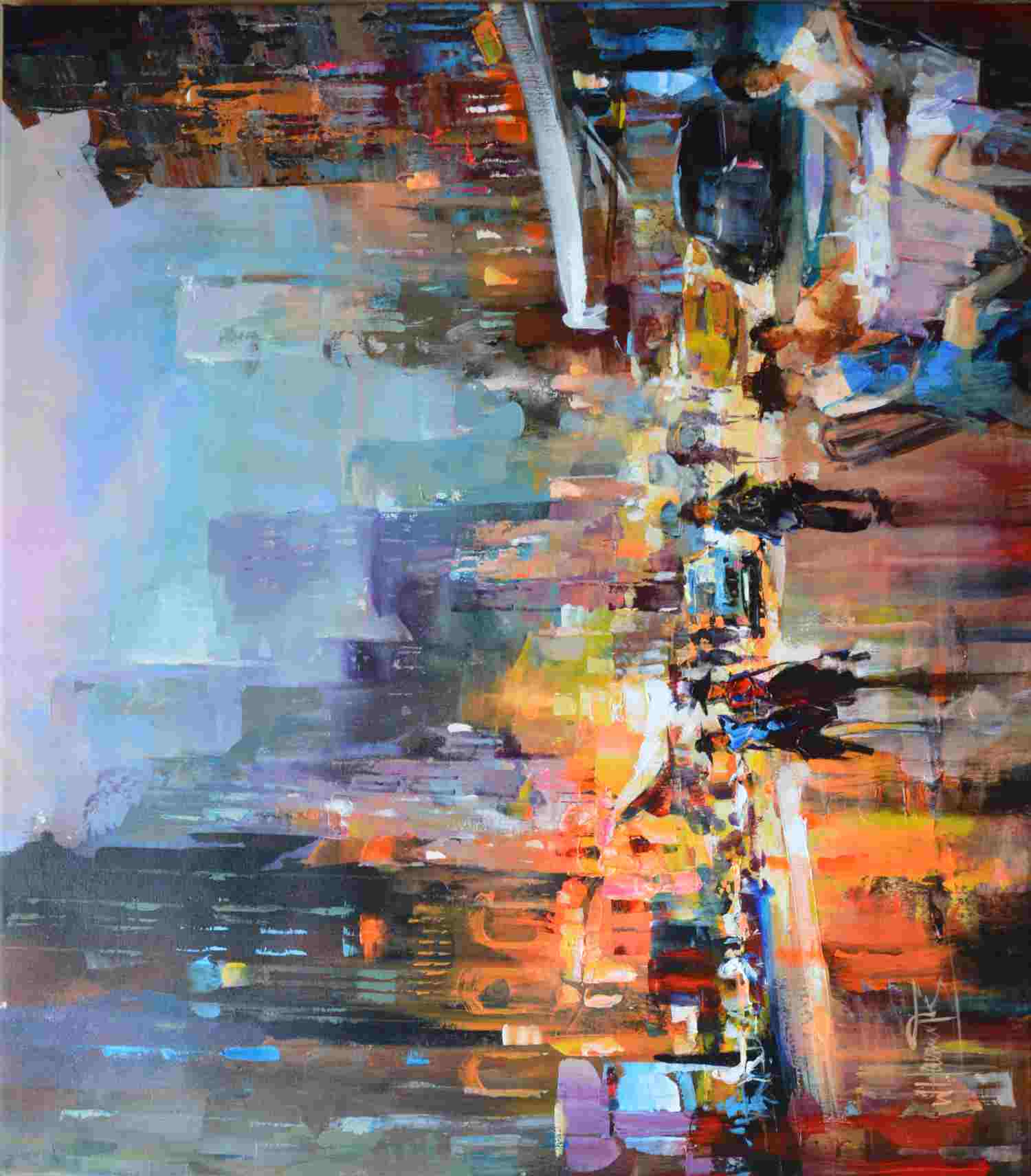 Evening in the City von Haenraets Willem80 x 70cm