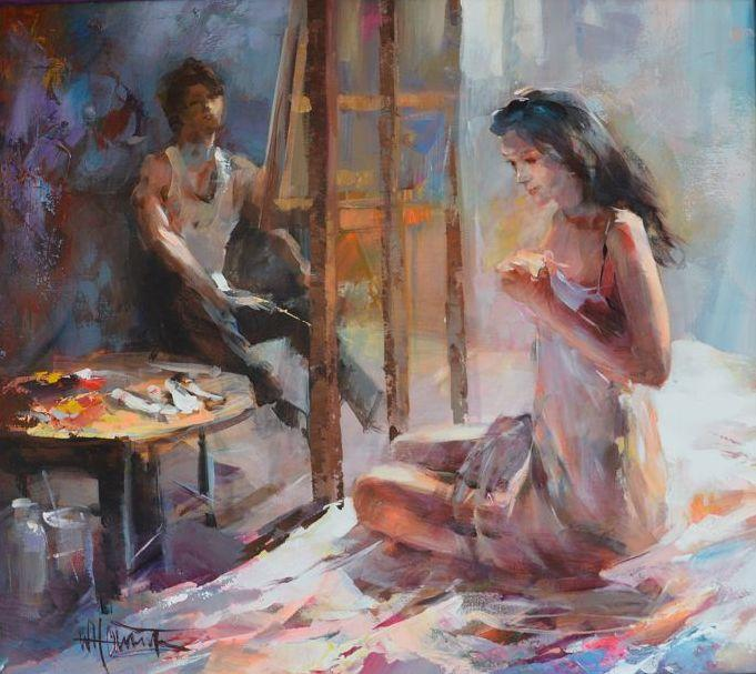 Mädchen im Atelier