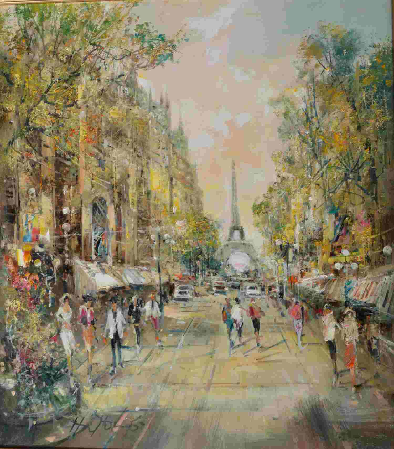 Paris von Morro-Henze, Ingfried70 x 80cm
