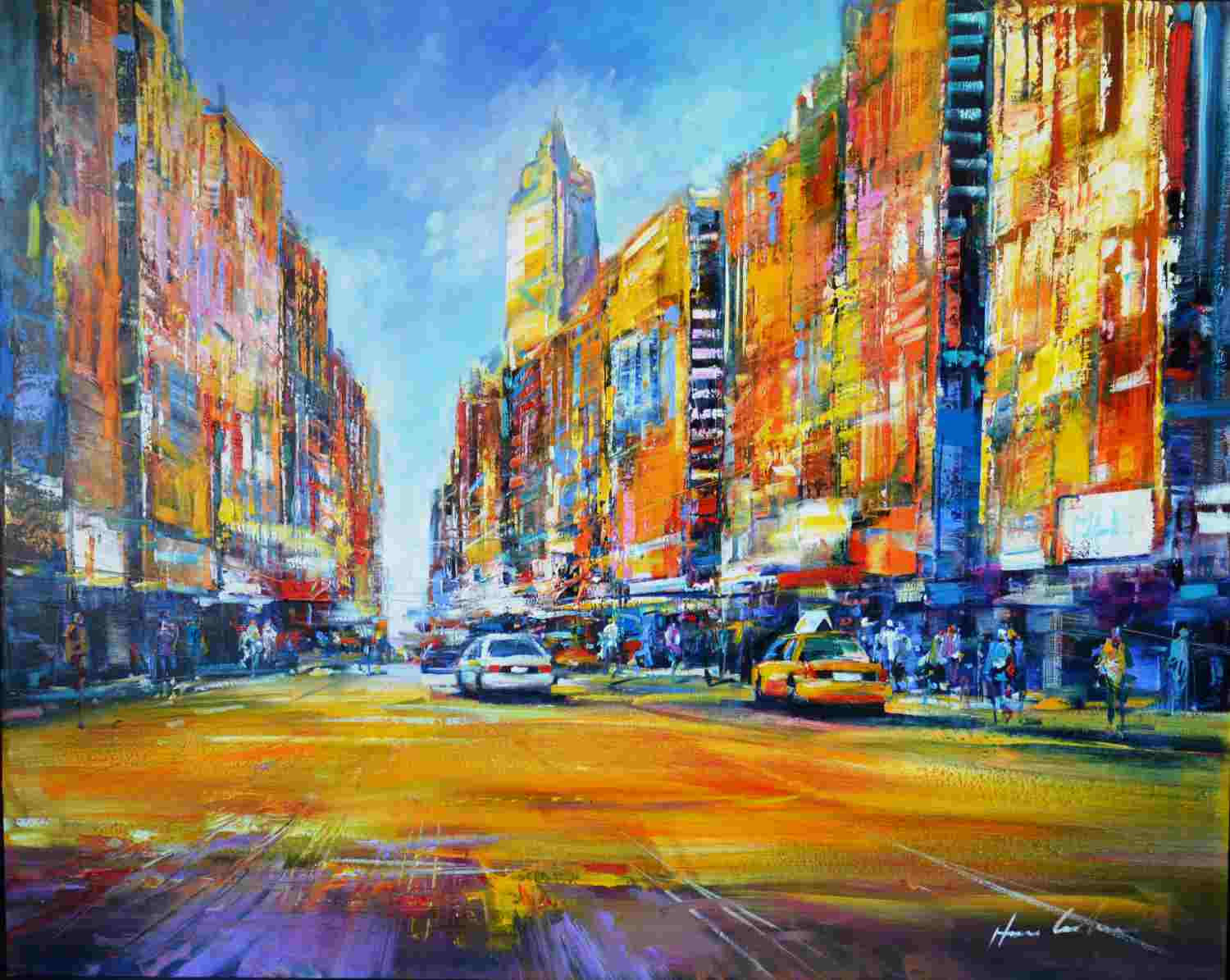 New York von Henze, Christian100 x 80cm