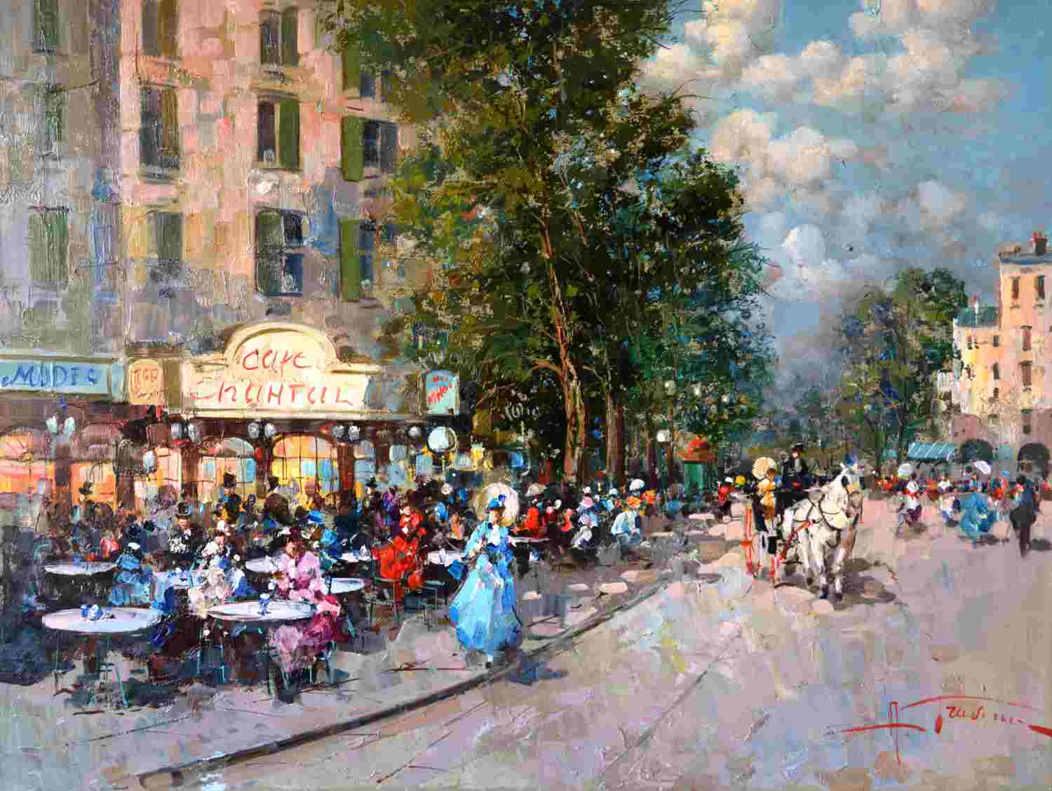 Cafe in Paris von Gravina, Antonio100 x 70cm