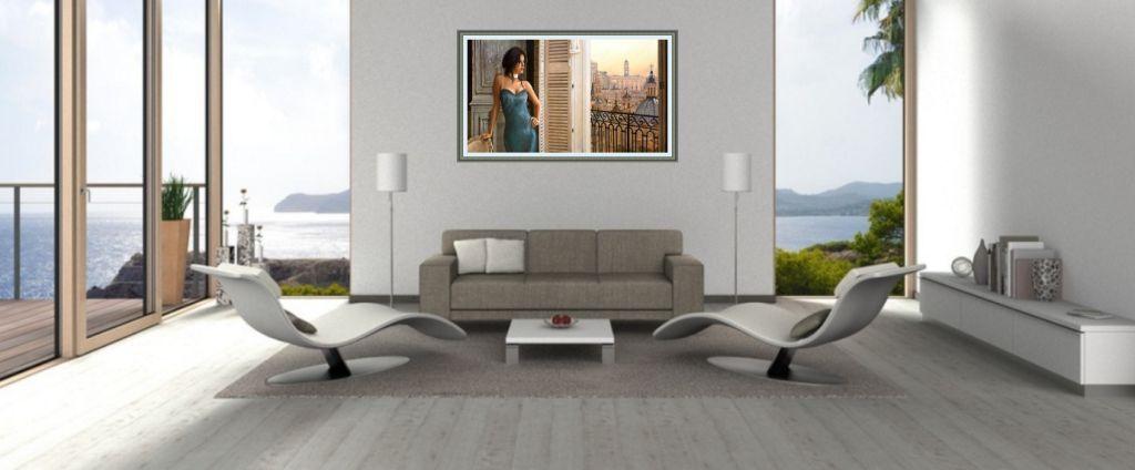 leinwandbild über sofa