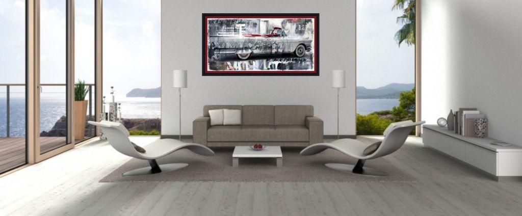 baker collage über sofa