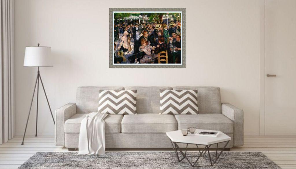 renoir leinwandbild über sofa