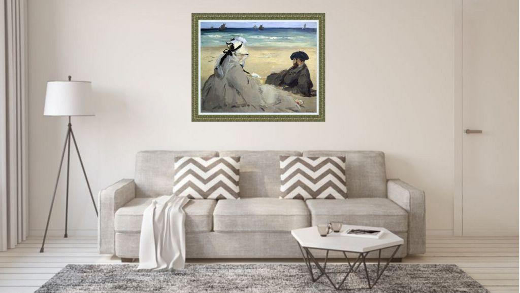 manet Bild über sofa