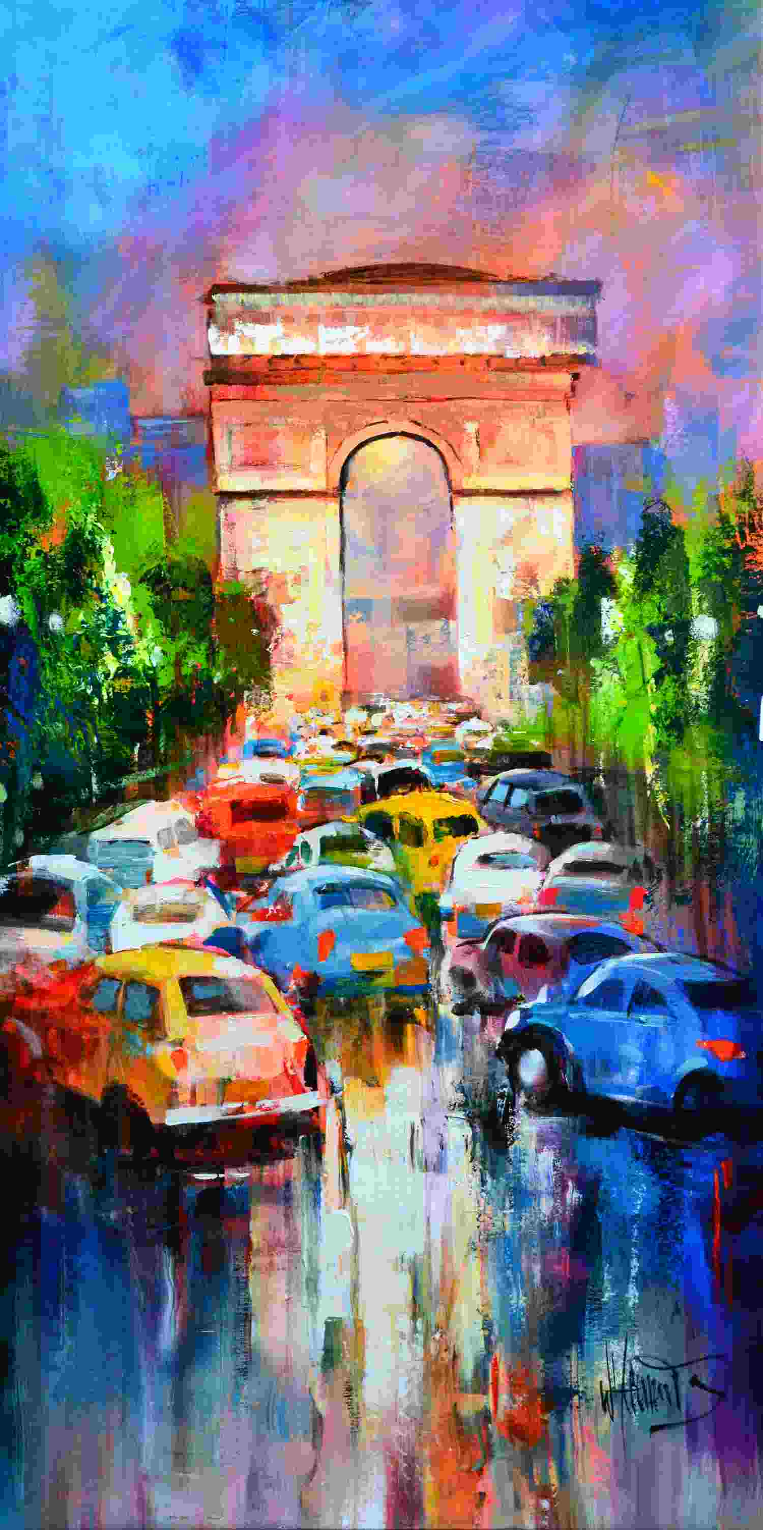 konfigurieren des Kunstwerks Rushhour in Paris von Haenraets Willem